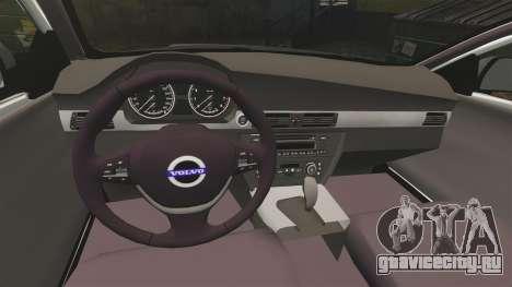 Volvo V70 Unmarked Police [ELS] для GTA 4 вид изнутри