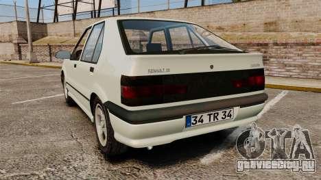 Renault 19 Europa для GTA 4 вид сзади слева