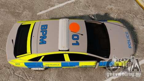 Ford Mondeo Metropolitan Police [ELS] для GTA 4 вид справа