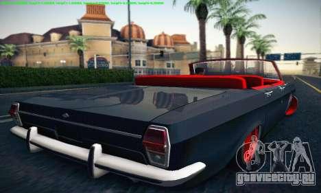 ГАЗ 24 Волга Кабриолет для GTA San Andreas вид справа