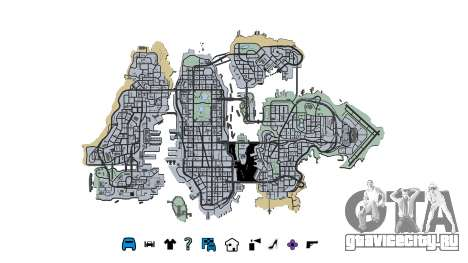 Liberty City Map V Style для GTA 4