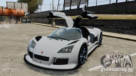 Gumpert Apollo S 2011 для GTA 4 вид сверху