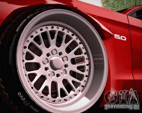Ford Mustang Rocket Bunny 2015 для GTA San Andreas вид сверху