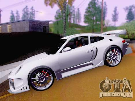 Porsche Carrera S для GTA San Andreas вид изнутри