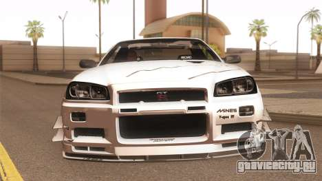 Nissan Skyline Mines R34 2002 для GTA San Andreas вид сбоку