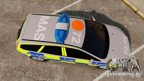Ford Focus Estate 2009 Police England [ELS] для GTA 4 вид справа