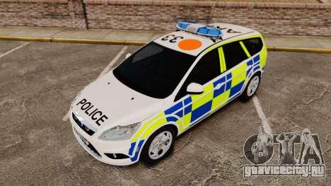 Ford Focus Estate 2009 Police England [ELS] для GTA 4 вид изнутри