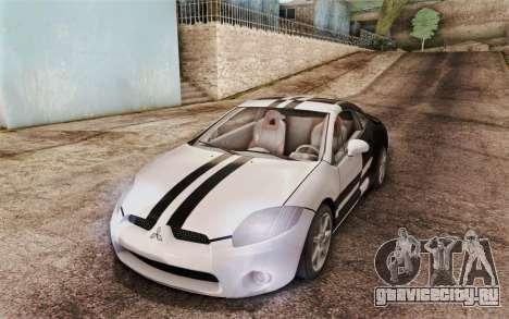 Mitsubishi Eclipse GT v2 для GTA San Andreas вид изнутри