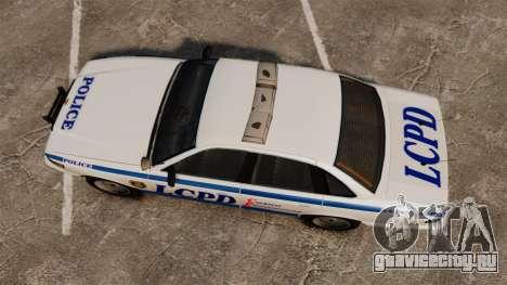 Vapid Police Cruiser v2.0 для GTA 4 вид справа