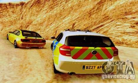 BMW 120i SE Police для GTA San Andreas вид сбоку