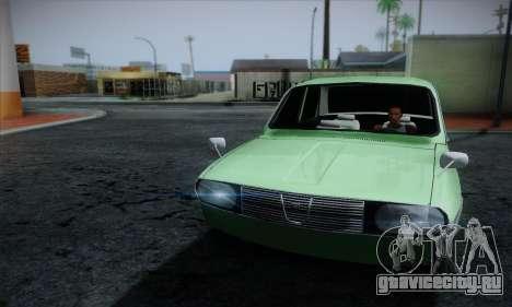 Dacia 1300 Retro Art для GTA San Andreas вид сзади