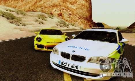 BMW 120i SE Police для GTA San Andreas вид сзади слева