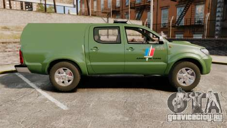 Toyota Hilux Land Forces France [ELS] для GTA 4 вид слева