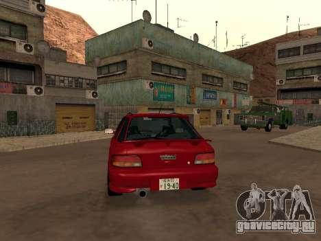 Subaru Impreza Wagon для GTA San Andreas вид справа