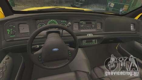 Ford Crown Victoria 1999 SF Yellow Cab для GTA 4 вид сзади
