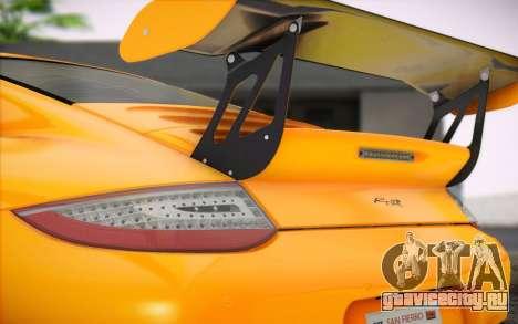 RUF RT12R для GTA San Andreas вид изнутри
