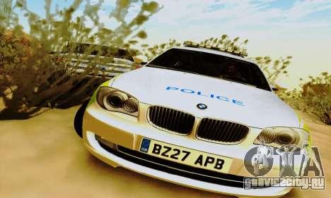 BMW 120i SE Police для GTA San Andreas вид слева