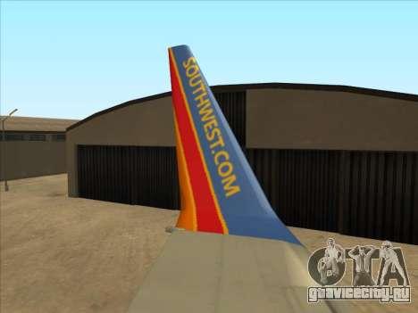 Boeing 737 Southwest Airlines для GTA San Andreas вид сбоку