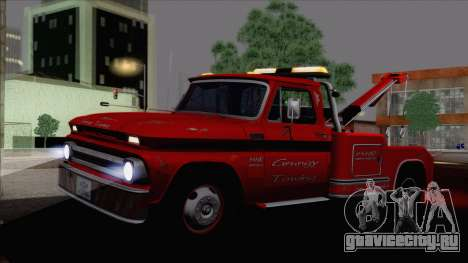 Chevrolet C20 Towtruck 1966 1.01 для GTA San Andreas вид слева