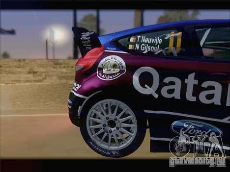 Ford Fiesta RS WRC 2013 для GTA San Andreas вид справа