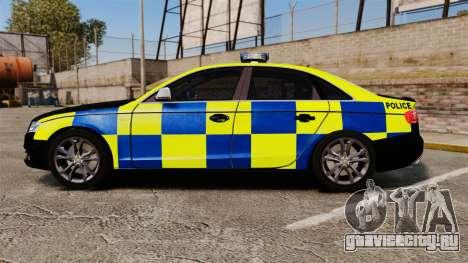 Audi S4 Police [ELS] для GTA 4 вид слева