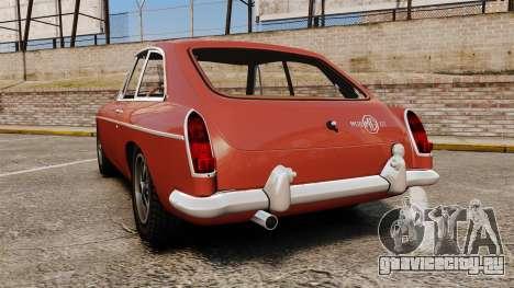 MG MGB GT 1965 для GTA 4 вид сзади слева