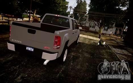 GMC Sierra 2500HD 2010 для GTA 4 вид слева