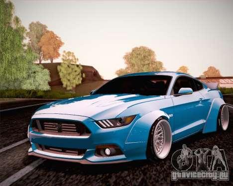 Ford Mustang Rocket Bunny 2015 для GTA San Andreas вид сзади