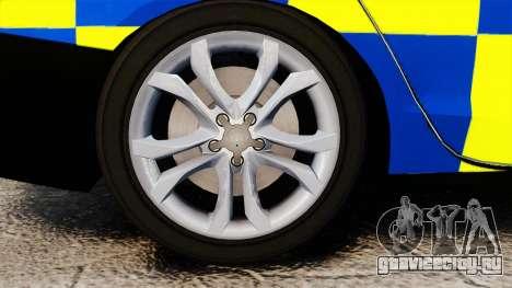 Audi S4 Police [ELS] для GTA 4 вид сзади