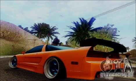 Acura NSX Drift для GTA San Andreas вид слева