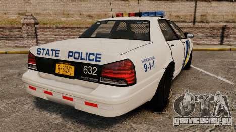 GTA V Vapid State Police Cruiser [ELS] для GTA 4 вид сзади слева