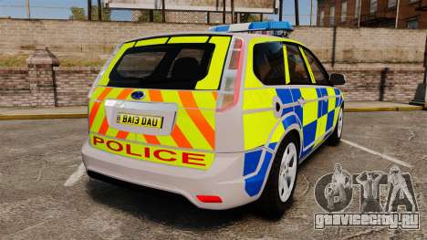 Ford Focus Estate 2009 Police England [ELS] для GTA 4 вид сзади слева
