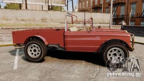 GTA V Canis Bodhi (Trevor Car) для GTA 4 вид слева