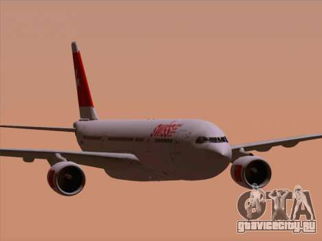 Airbus A330-223 Swiss International Airlines для GTA San Andreas вид снизу