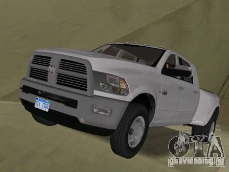 Dodge Ram 3500 Laramie 2012 для GTA Vice City вид сбоку