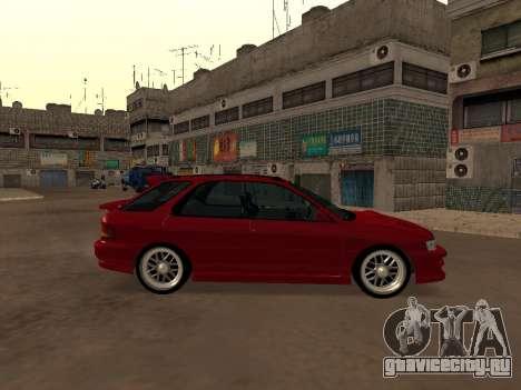Subaru Impreza Wagon для GTA San Andreas вид слева
