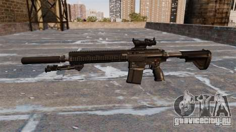 Автоматическая винтовка HK417 для GTA 4 третий скриншот