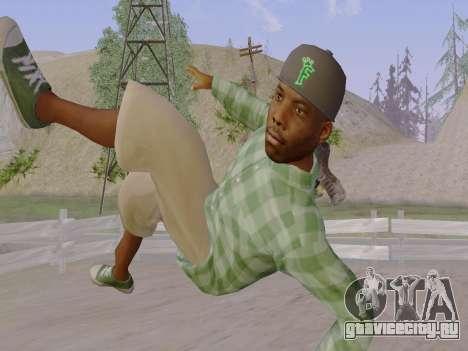 Член банды Grove Street из GTA 5 для GTA San Andreas седьмой скриншот