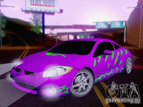 Mitsubishi Eclipse v4 для GTA San Andreas вид снизу