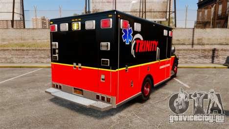 Landstalker L-350 Trinity EMS Ambulance [ELS] для GTA 4 вид сзади слева