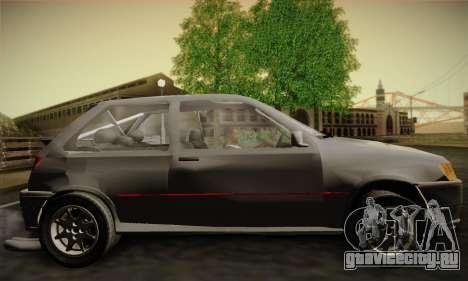 Ford Fiesta Mk3 XR2i для GTA San Andreas вид сзади слева