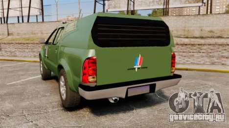Toyota Hilux Land Forces France [ELS] для GTA 4 вид сзади слева