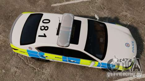 Lexus GS350 West Midlands Police [ELS] для GTA 4 вид справа