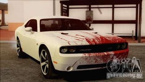 Dodge Challenger SRT8 2012 HEMI для GTA San Andreas вид сверху