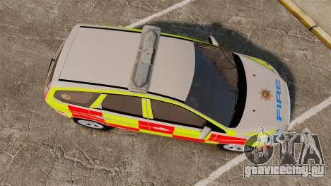 Ford Focus Estate 2009 Fire Car England [ELS] для GTA 4 вид справа