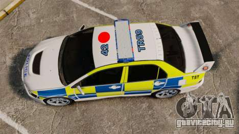 Mitsubishi Lancer Evolution IX Uk Police [ELS] для GTA 4 вид справа