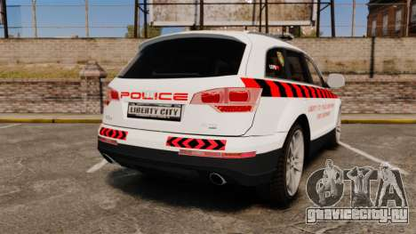 Audi Q7 Enforcer [ELS] для GTA 4 вид сзади слева