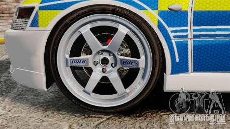 Mitsubishi Lancer Evolution IX Uk Police [ELS] для GTA 4 вид сзади