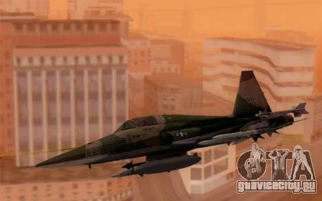 F-5 Tiger II для GTA San Andreas вид сзади слева