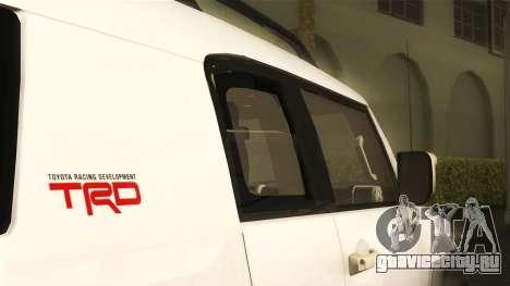 Toyota FJ Cruiser 2012 для GTA San Andreas вид справа